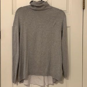 WHBM Turtle neck long sleeves with sheet back